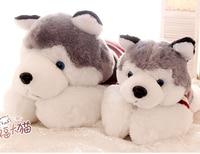 1 unid 45 cm 65 cm muñeca de la felpa de dibujos animados suéter huskies perro lindo juguete de peluche almohada niños divertidos de la novedad romántica regalo para la muchacha
