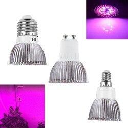 كامل الطيف cfl LED تنمو ضوء Lampada E27 E14 MR16 GU10 الأشعة فوق البنفسجية داخلي مصباح النبات المزهرة نظام الزراعة المائية حديقة AC85-265V
