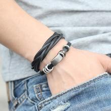 Men's Ethnic Style Wide Leather Bracelet
