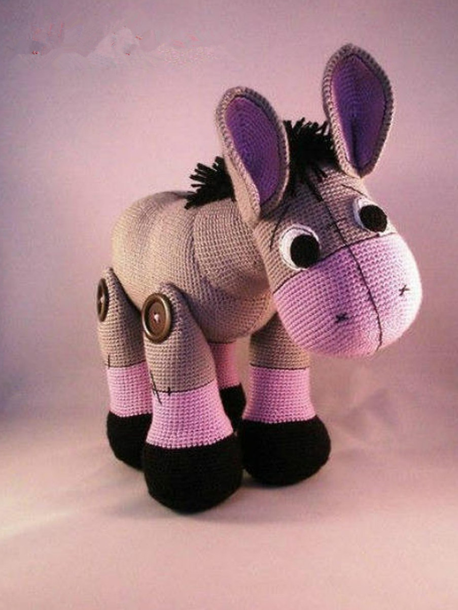 Baby donkey amigurumi pattern - Amigurumi Today | 1201x903
