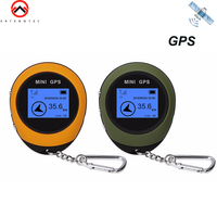 Mini GPS Tracker Location Receiver Keychain GPS Locator Device Handheld Location Finder USB Rechargeable Compass Outdoor Sport