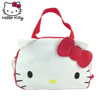 цена на Hello Kitty Cute Cartoon Bag hellokitty Bag Hand Bags Fashion Women Single Shoulder Diagonal Bag Lovely Shopping Plush Backpack