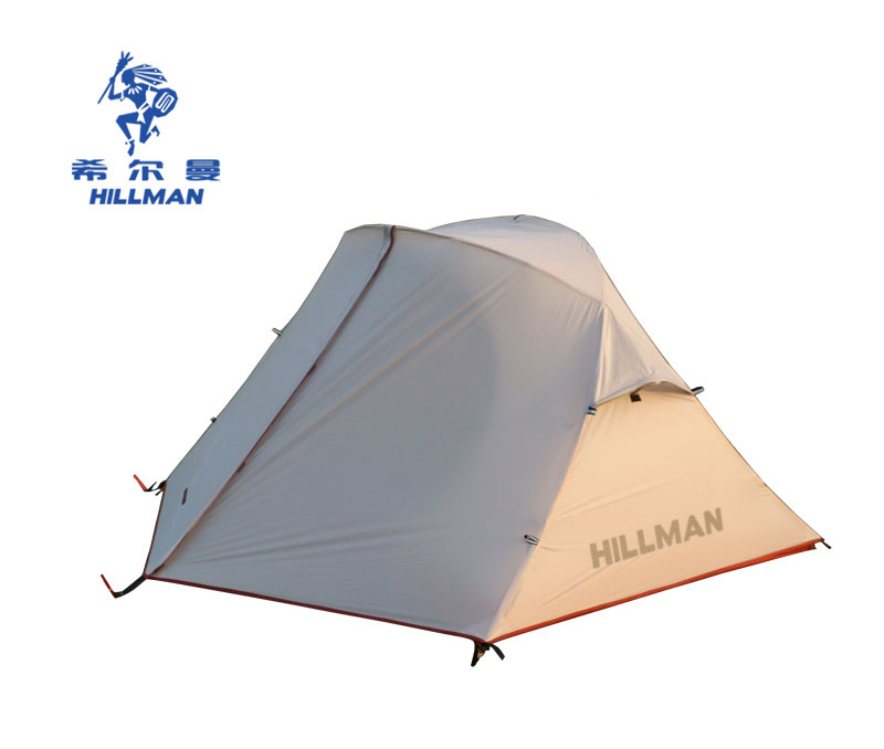 Hillman Ultralight Double Layer 2 Person Waterproof 20D Fabric Silicon Coated Aluminum Poles Camping Tent hillman 3 4 person double layer ultralight silicon tent 2d silicone coated nylon waterproof aluminum rod outdoor camping tent