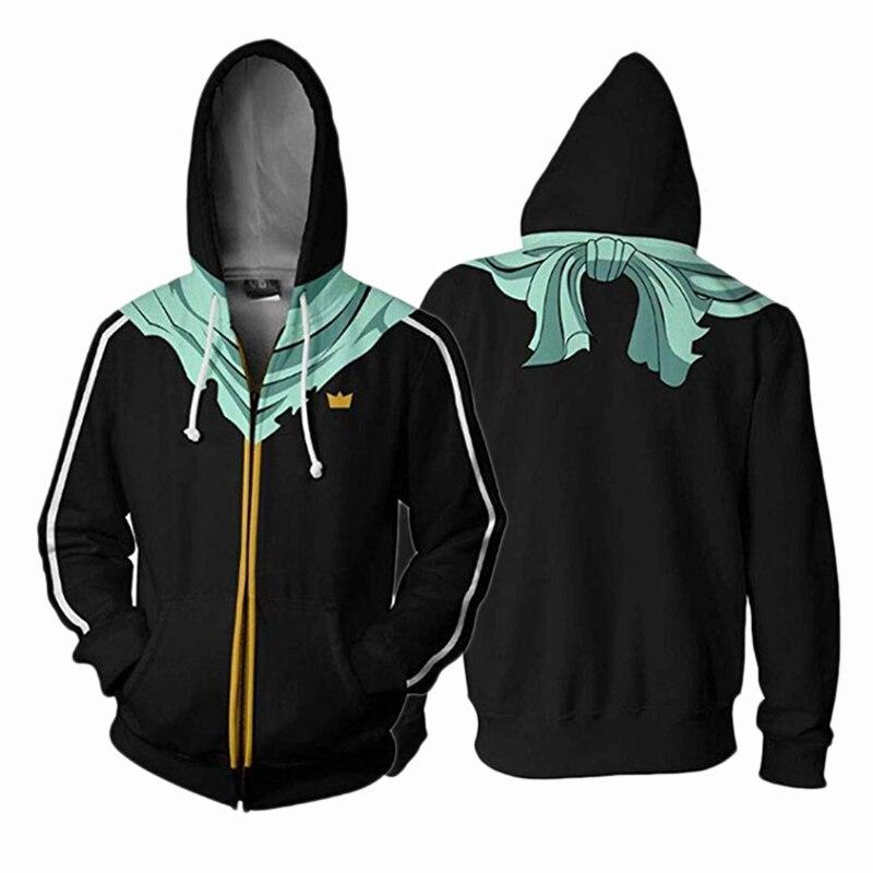 Hot Anime Noragami Jacket Yato Cosplay 3D Printed Hoodies Unisex Zipper Long Sleeve Sweatshirts Casual Hiphop Coat Pullover Top
