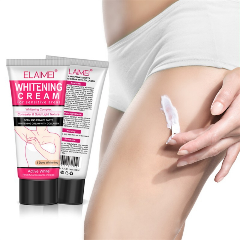 1pc 60ml Body Cream Armpit Whitening Cream Between Legs Knees Private Parts Whitening Formula Armpit Whitener Intimate Maquiagem in Body Self Tanners Bronzers from Beauty Health