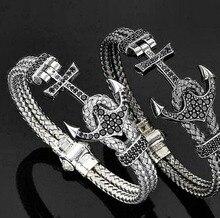 Мода atolyestone18k белое золото якорь браслет titanium стальные 24 К розовое золото/золотой/серебряной проволоки для мужчин костюм ювелирные изделия s3-0199