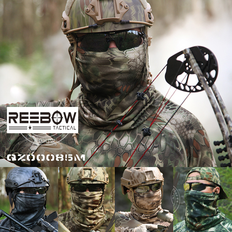 REEBOW TACTICAL Outdoor Camouflage Halswarmer Multifunctionele Militaire Herfst Gaiter voor Jacht Camping Airsoft Paintball