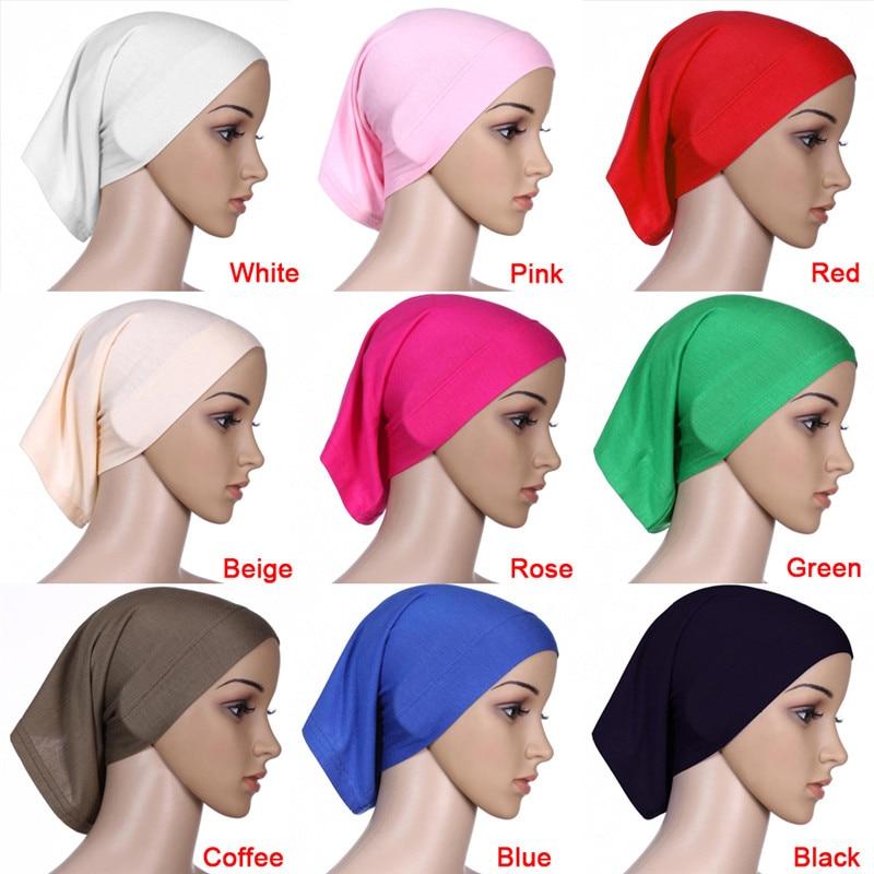 1pc Muslim Islamic Arabian hijab tube underscarf veil robe abaya inner caps hats Modal Stretch Elastic Adjustable 30x24cm retail