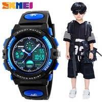 SKMEI mode enfants LED montres numériques pour garçons fille Sport 5Bar étanche montres-bracelets Smart bracelet en cuir synthétique polyuréthane enfants Montre Enfant