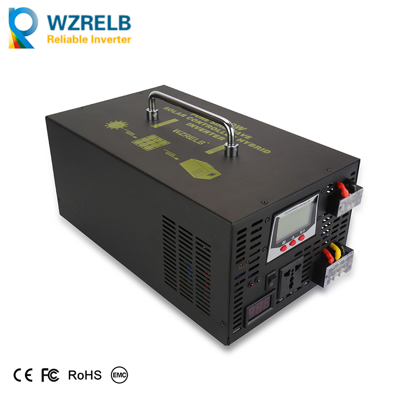 цена на Solar System Inverter 2500W Pure Sine Wave Inverter 12v 220v 30A Solar Controller Hybrid Inverter