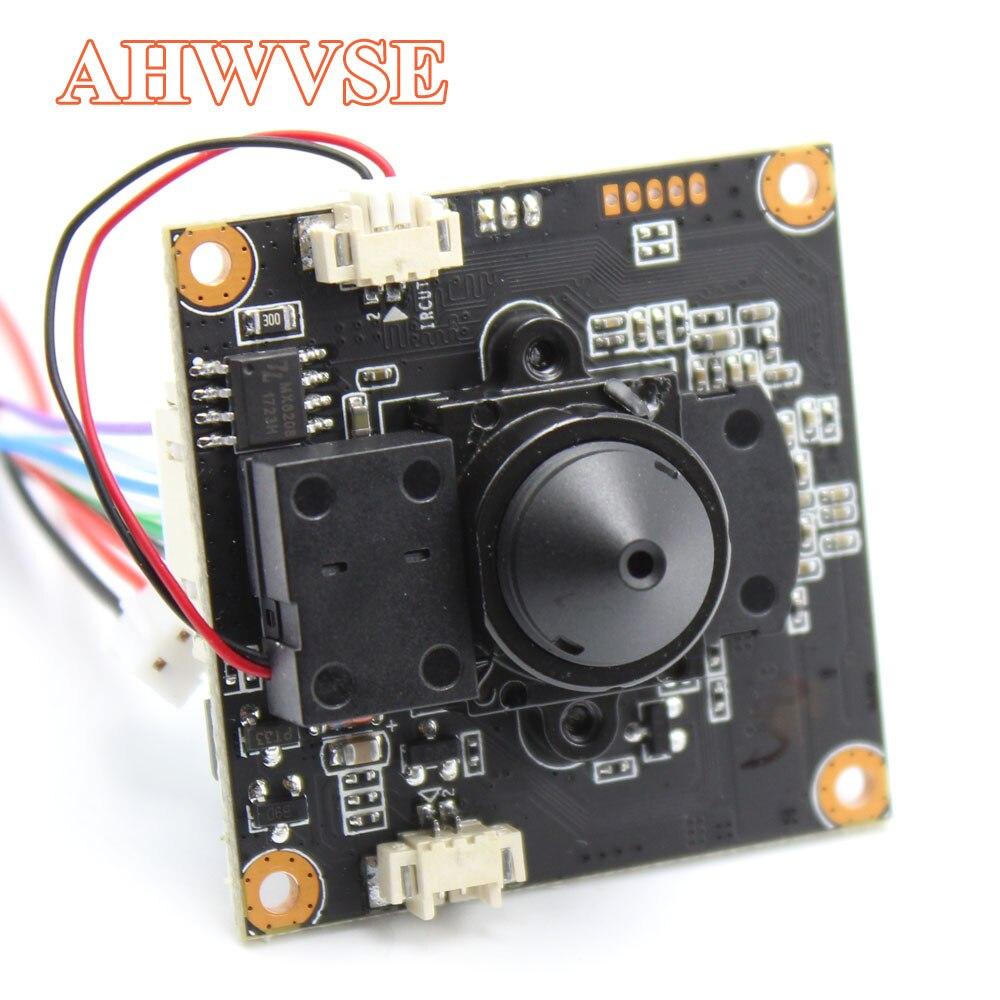 AHWVE módulo Board com 3.7 milímetros Lente Pinhole Camera IP IRCUT RJ45 Cabo interior APP CMS ONVIF NVSIP H264 Móvel serveillance