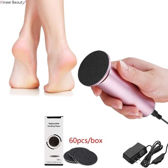 เท้าไฟฟ้าแคลลัส Remover เท้าไฟฟ้า Pedicure ไฟล์เครื่อง Feet Care 60 PCS กระดาษทรายฟุต Dead Skin แคลลัสกำจัด