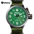 INFANTRY Watch Green Army Mens Sports Watches Quartz Relogio Military G10 Nylon Strap Auto Date Relojes Deportivos 2017
