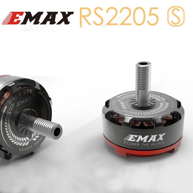 EMAX RS2205 S 2300KV 2600KV CCW Brushless Motor for FPV Racing RC Drone Quadcopter emax rs2205 rs2205s 2300kv 2600kv cw ccw brushless motor 2pcs cw and 2pcs ccw motor