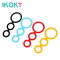 IKOKY Delay Ejaculation Sex Toys for Men Male Cock Rings Penis Sleeve Three Cock Cages Silicone Penis Rings Adults Products