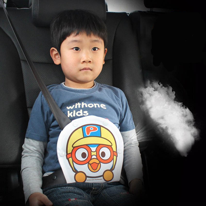 Children Adjustment Car Seat Belt Protector Holder Safety Guard Belly Cartoon Auto Seatbelt Cover Accessories For Baby Child ...