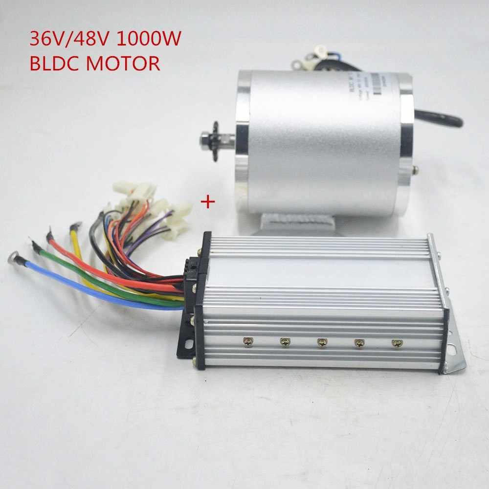Motor Eléctrico de 3000rpm Motor Cepillado 36V 1000W con Acelerador para E-bike