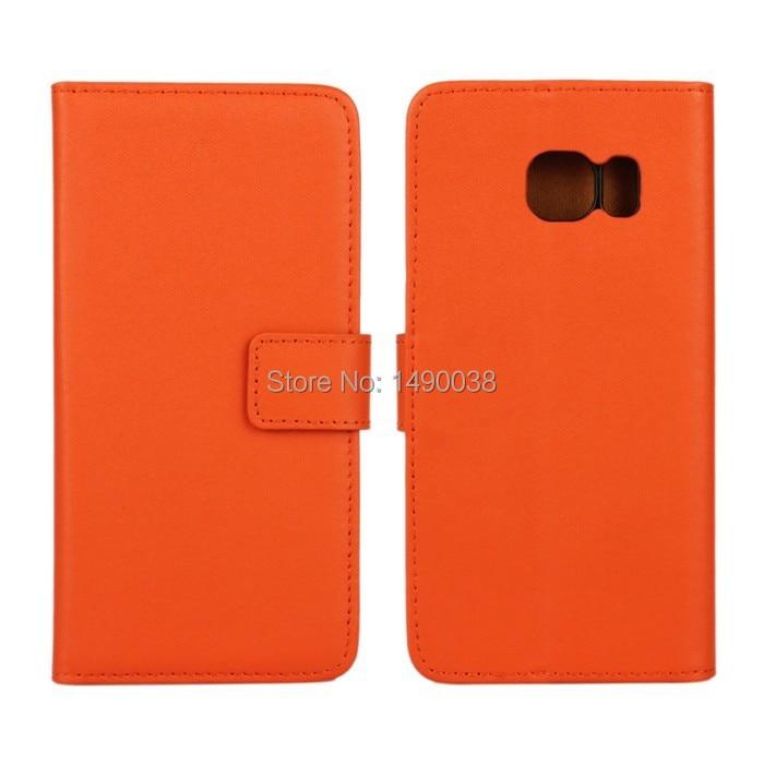 Högkvalitativt äkta läder-flipfodral för Samsung Galaxy S6 Edge - Reservdelar och tillbehör för mobiltelefoner - Foto 5