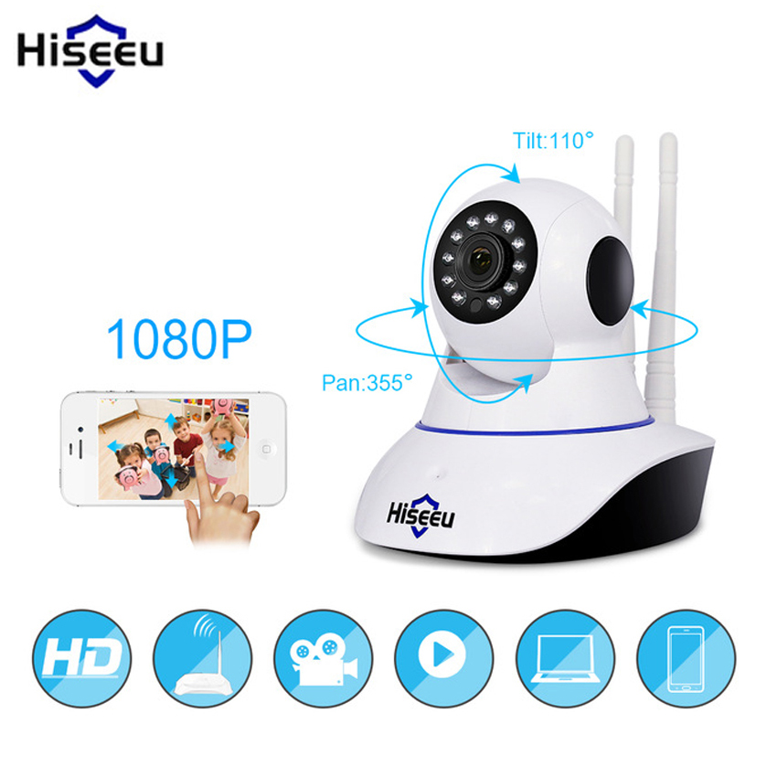 Hiseeu Wireless 1080P IP Camera Home Security IP Camera Night Vision Pan Tilt CCTV Camera Surveillance Camera Wifi Baby Monitor howell wireless security hd 960p wifi ip camera p2p pan tilt motion detection video baby monitor 2 way audio and ir night vision