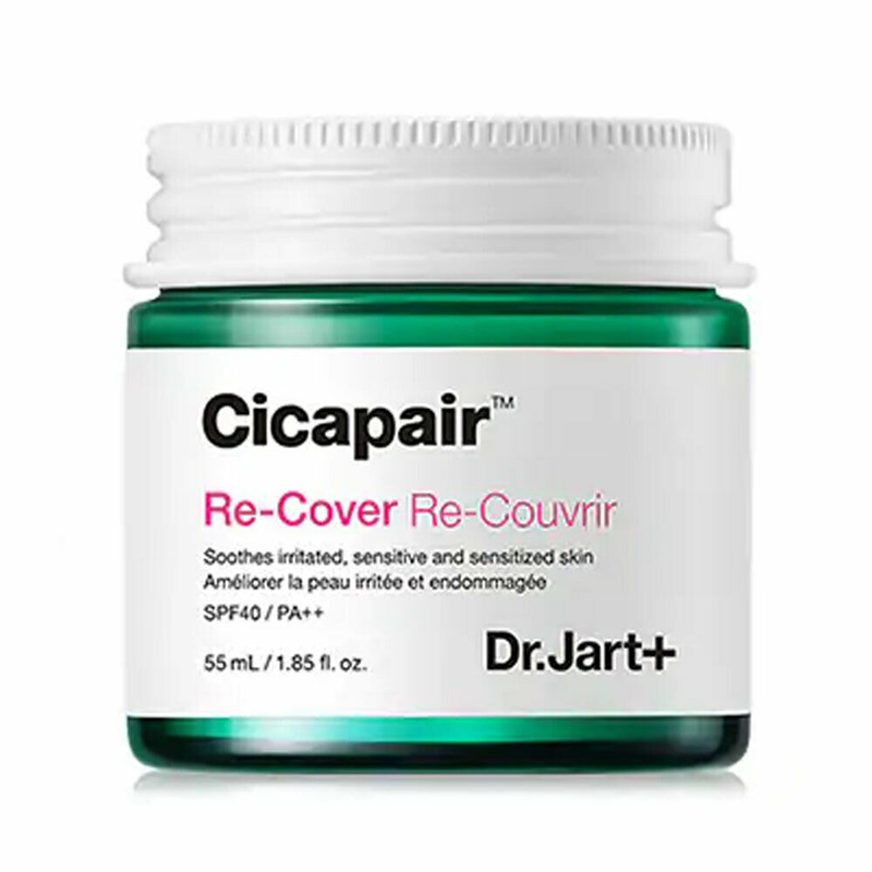 Dr.Jart+ Cicapair Re-Cover 55ml Face Cream Skin Color Correction Moisturizing Cream Facial Serum Skin Inflammation Scar Healing