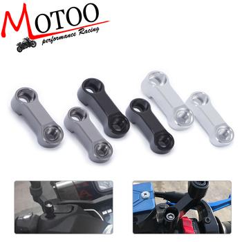 Motoo-darmowa wysyłka dla Yamaha FZ-09 MT-09 lusterka motocyklowe przedłużacz przedłużenie adaptera śruby rozmiar 10mm (nie dla tracer) tanie i dobre opinie ANODIZING 20cm 18cm aluminum Lusterka boczne i akcesoria 0 1kg