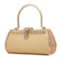 2017 New Design Lady Banquet Handbag Clutch Party Bridal Evening Bag Women with Metal Diamand Rhinestone Makeup Purse