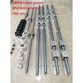 6 компл. SBR16 линейная направляющая + шариковые винты RM1605 SFU1605 шариковый винт + BK/BF12 + Корпус гайки + муфты для частей CNC