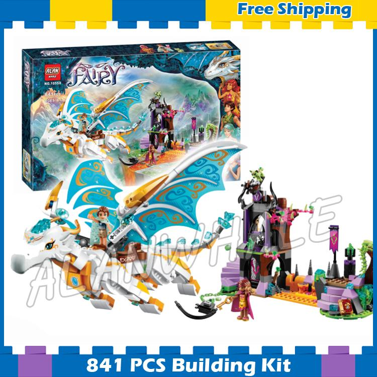 841pcs Elves Queen <font><b>Dragon's</b></font> Rescue Elf Princess <font><b>Castle</b></font> Tower 10550 Model Building Blocks Fairy Gifts sets Compatible with <font><b>Lego</b></font> image