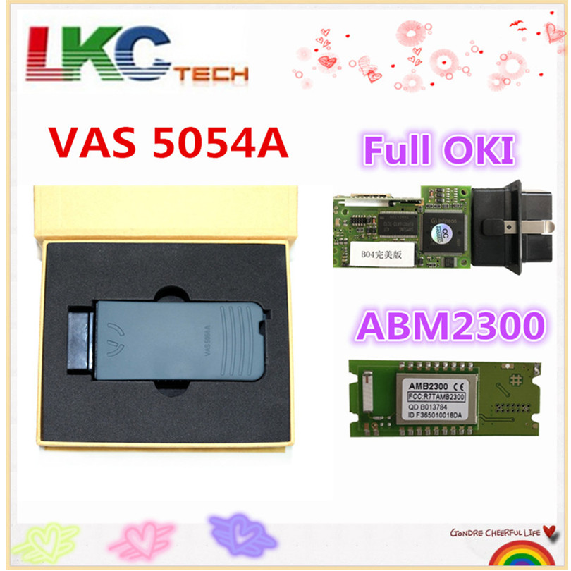 New Arrival ! Full Chip Perfect OKI VAS 5054A AMB2300 Bluetooth Adapter Support UDS OBD OBD2 Car Diagnostic detector TooL high quality vas5054a with oki full chip car diagnostic tool support uds protocol vas 5054a odis v4 13 bluetooth for audi for vw