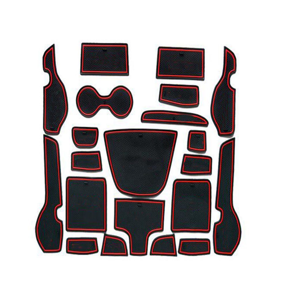 Dongzhen 21PCS Car Non-Slip Interior Cup Cushion Door Mat Cup Stickers Covers Fit For Chery Tiggo 5 2014 Decorative Protection