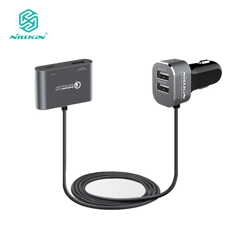 Nillkin Car Charger Dual USB Adapter 4 Ports Charger Micro Type-C Car Charger for iPhone 7 7Plus 8 8Plus XNillkin Car Charger Dual USB Adapter 4 Ports Charger Micro Type-C Car Charger for iPhone 7 7Plus 8 8Plus X