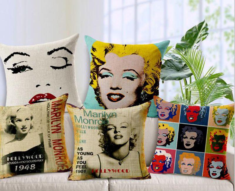 5 db / tétel Upscale Retro Star Marilyn Monroe vastag pamut - Lakástextil