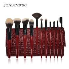 Профессиональный набор кистей для макияжа FEILANDUO, 11 шт., высококачественные PBT инструменты для макияжа, T004 кисти для макияжа, косметический инструмент