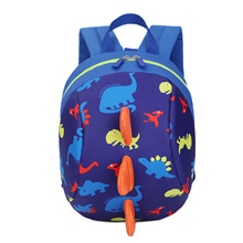 Cute School Backpack Anti-lost Kids Bag Cartoon Animal Dinos