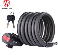 WHEEL UP MTB Road Motorcycle Bike Anti Theft Lock Bicycle Accessories Steel Wire Security Cable 1.2/1.5/1.8m
