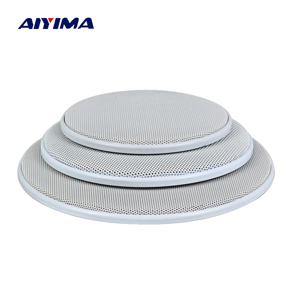 AIYIMA 2Pcs Audio Speakers Column Altavoz Prtatil Protective Cover 4/5/6.5 Inch Protective Mesh Net Grille DIY For Car Speaker