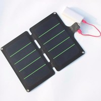 HOT 11W 5V Portable Solar Panel Charger Super Slim Light Solar Cell Charger USB Output Water