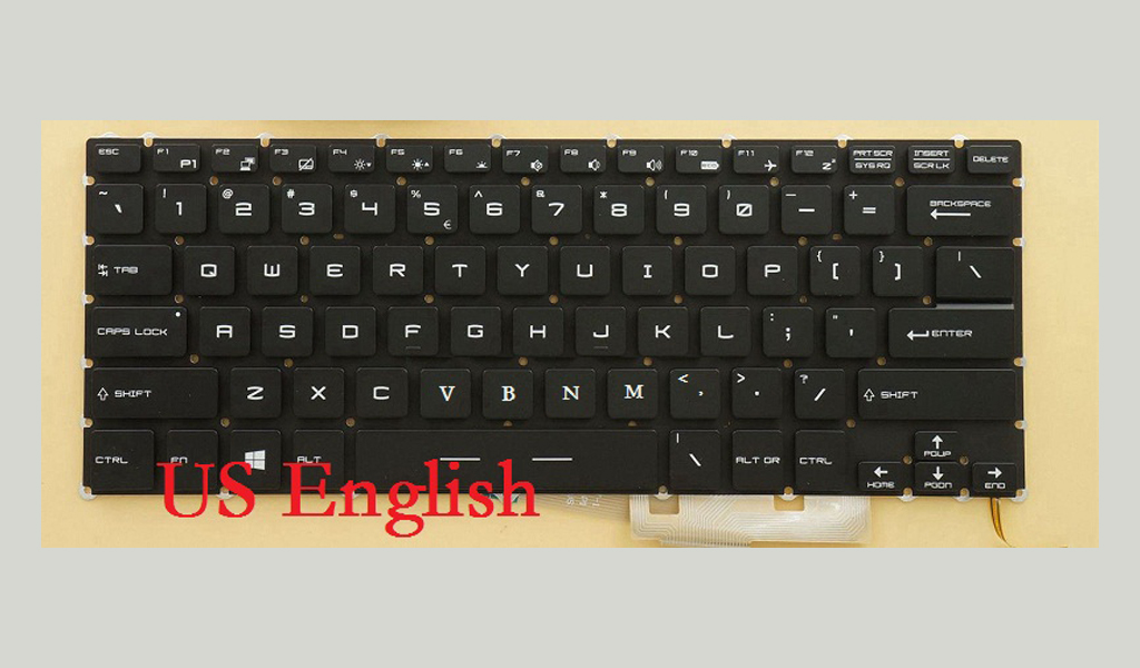 Laptop Keyboard For MSI GS30 2M-001US 2M-001US 2M-046US GS32 6QE-004US GS40 6QE-001US 6QE-003US GS43VR 6RE-006US US English New 100% new and orginal black english us laptop keyboard for for msi x slim