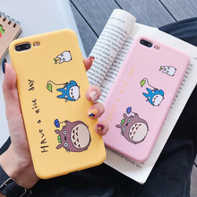 Pink Cute Cartoon Phone Cases For iPhone 6 6S 7 8 Plus Case Soft Silicone TPU Back Cover For iPhone X XS MAX XR цена