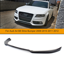 2009-2012 A4 B8 S Style FRP Unpainted Black Primer Auto Car Front Lip, Bumper Lip Spoiler For Audi(Fit A4 B8 Sline Bumper 09-12) jdm sport style front bumper lip spoiler urethane for 95 96 mitsubishi eclipse