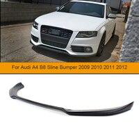 FRP Car Front Bumper Diffuser Lip For Audi A4 B8 Sline Bumper 2009 2010 2011 2012 Unpainted Black Primer