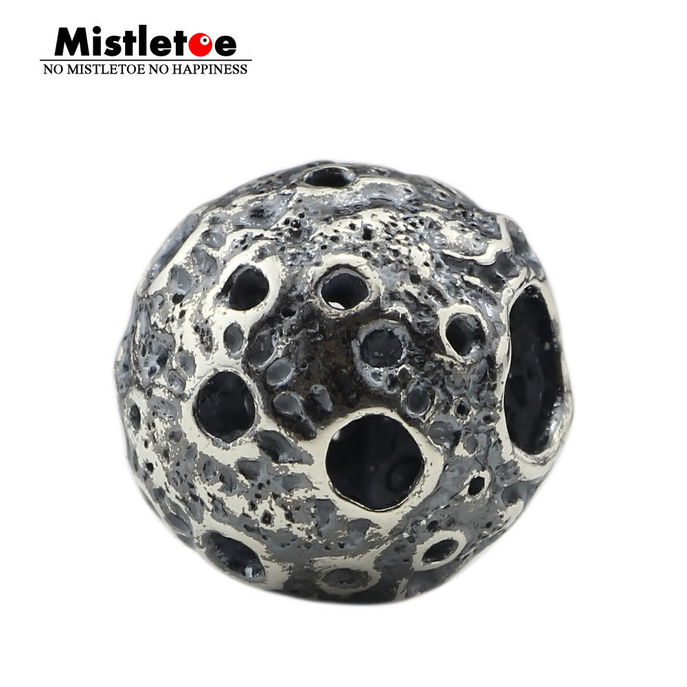 Mistletoe 925 Sterling Silver Luna Charm Bead Fit European Bracelet JewelryMistletoe 925 Sterling Silver Luna Charm Bead Fit European Bracelet Jewelry