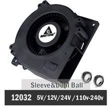 1 шт. Gdstime 120 мм 12 см вентилятор 5 в 12 В 24 в 48 в 110 в 115 в 220 в 240 в 120X120X32 мм шариковый компьютер радиальный турбо вентилятор охлаждения