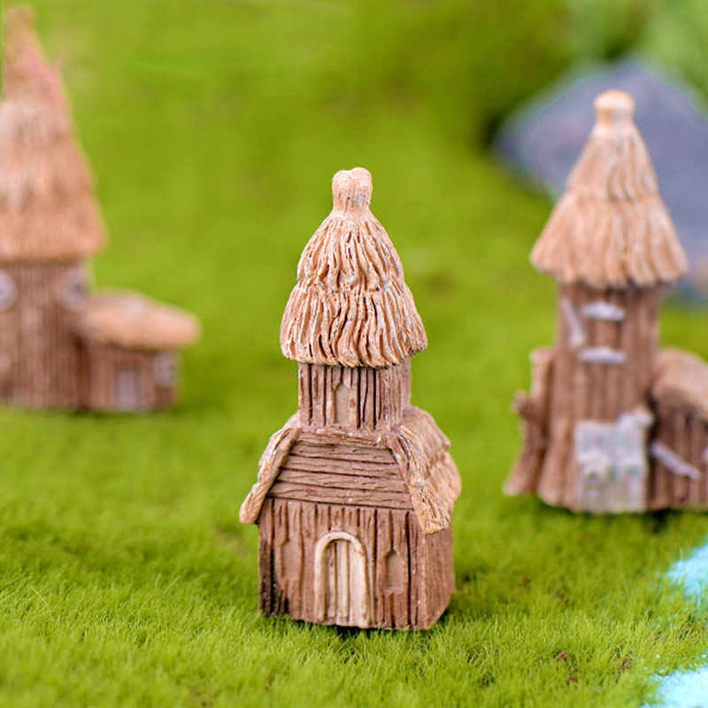 1 stücke Vintage Künstliche Pool Turm Miniatur Haus Fee Garten Home Dekoration Mini Handwerk Micro Landschaftsbau Decor