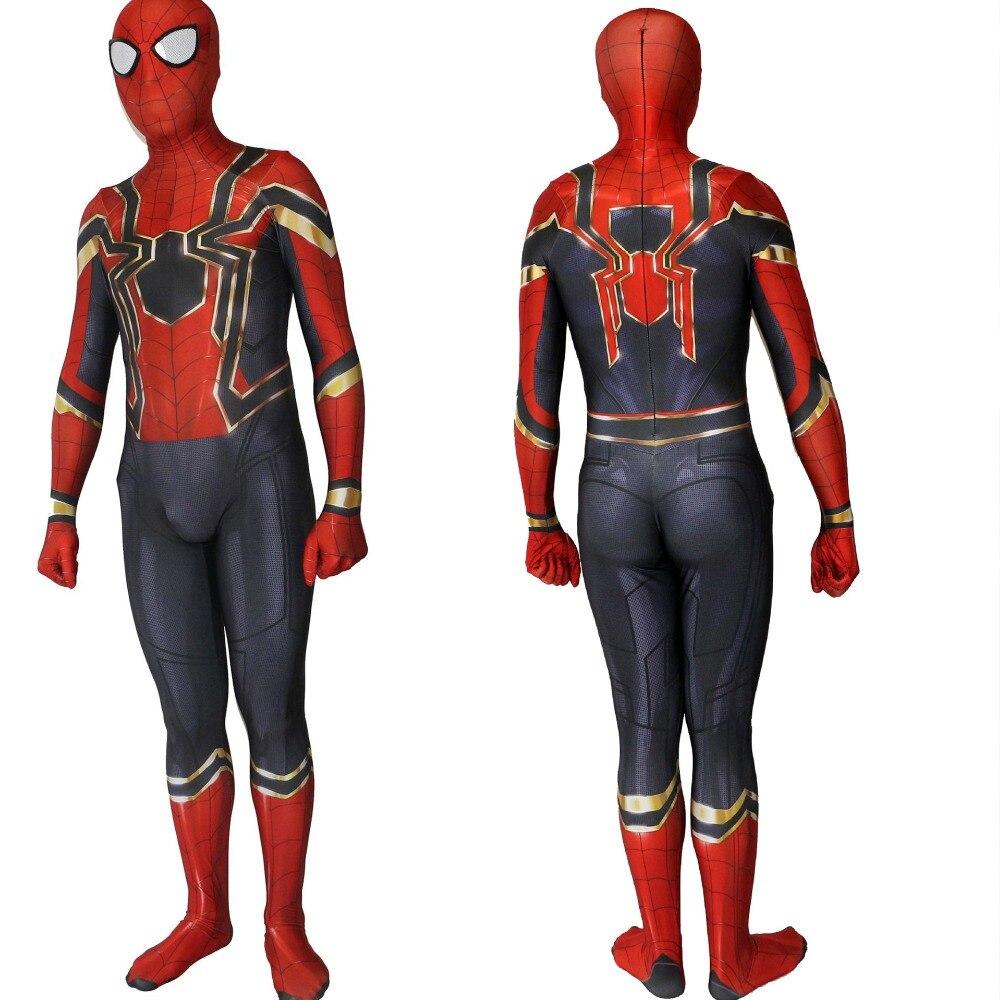 Kids Adult Homecoming Spiderman Cosplay Zentai Iron Spider Man Costume Superhero Bodysuit Suit Jumpsuits Boy Children Men Women
