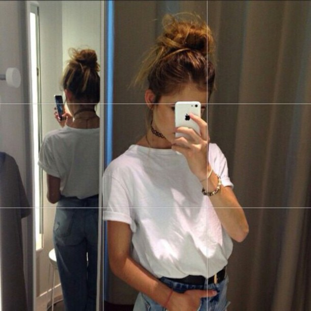 New Trend Summer Women T Shirt Fashion Girls Tops Tumblr T Shirt Casual Tees Without Print Shirt Simple T Shirt