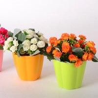 5PCS Wholesale Flower Simulation Lilac Restaurant Home Bonsai Plant Plastic Flower Set Artificial Flowers Cheap Quality