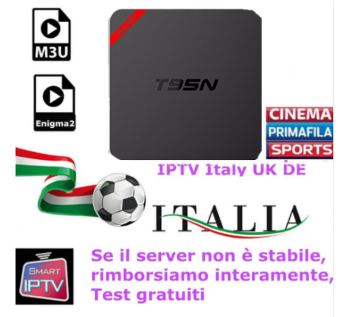 T95N OTT IPTV Box With 1 Year Italy IPTVBox 1G/8G Italy IPTV EPG 4000+Live+VOD configured Europe Albania ex-yu XXX channels a95x pro voice control with 1 year italy iptv box 2g 16g italy iptv epg 4000 live vod configured europe albania ex yu xxx