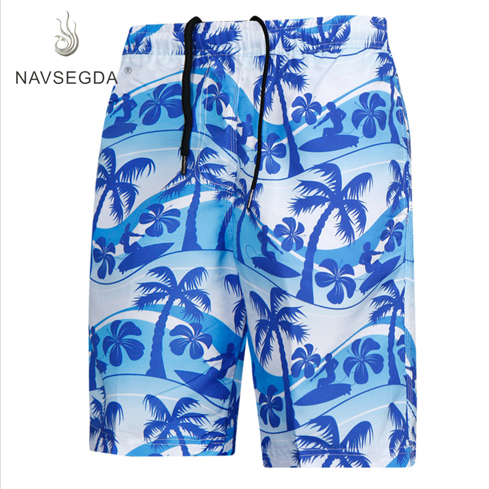 NAVSEGDA 2019 Men   Board     Shorts   Team Wear Printing Swimming Surfing Summer Draw String Beach   Shorts   Men's Trunk Water   Short