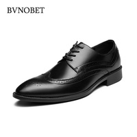 BVNOBET Lightweight Black Oxford Shoes For Men Classic Business Office Wedding Dress Men's Leather Shoes Chaussures Pour Homme
